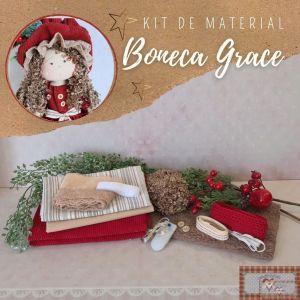 BONECA GRACE - KIT DE MATERIAL (SEM PROJETO)