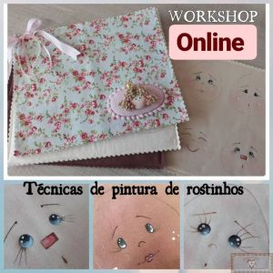 Workshop Online - Técnicas de Pinturas de Rostinhos (Grupo Fechado no Facebook)