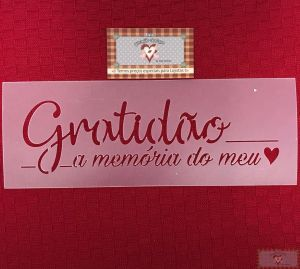 GABARITO GRATIDÃO -  STENCIL
