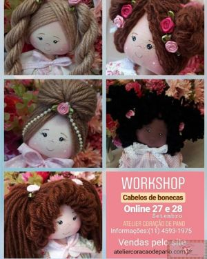 Workshop Online - Penteados de Boneca (Grupo Fechado no Facebook)
