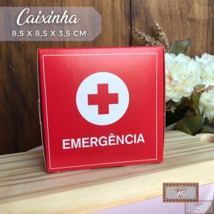 """CAIXINHA DE REMÉDIO """"EMERGÊNCIA""""  - 8,5 X 8,5 X 3,5 cm (1UN)"""