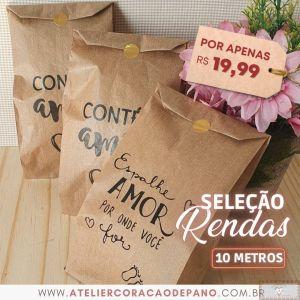CARRETEL COM 10MT DE RENDA I - AZUL (5 TIPOS DE RENDA!)