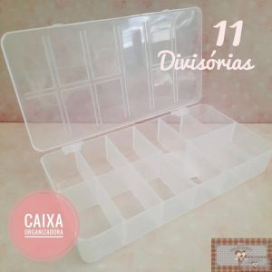 CX11 - CAIXA ORGANIZADORA COM 11 DIVISÓRIAS