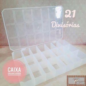 CX21 - CAIXA ORGANIZADORA COM 21 DIVISÓRIAS
