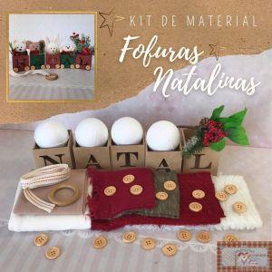 FOFURAS NATALINAS - KIT DE MATERIAL (SEM PROJETO)