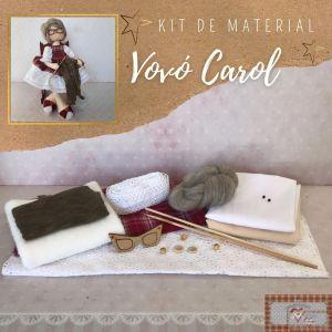 VOVÓ CAROL - KIT DE MATERIAL (SEM PROJETO)