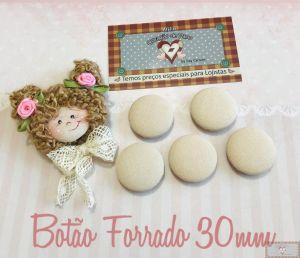 BOTÃO FORRADO PELE 1 28MM - 5UN