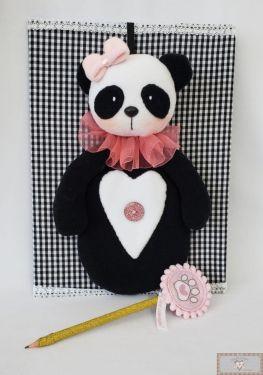 Projeto Via Correio - Estojo Panda