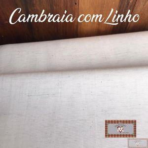 CAMBRAIA COM LINHO - LISO (0,50 MT)