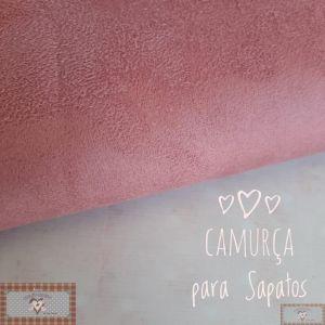 CAMURÇA PARA SAPATOS (50X34CM) - ROSA ANTIGO