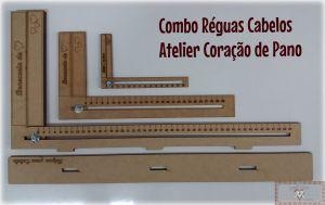 COMBO RÉGUA DE CABELO (15CM + 30CM + 50CM)