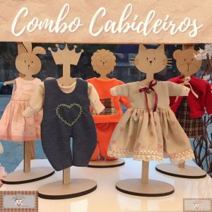 COMBO CABIDEIROS EM MDF - 5UN