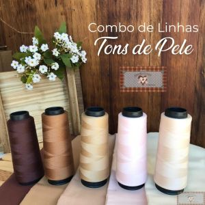 COMBO DE CONES DE LINHAS TONS DE PELE - 5UN