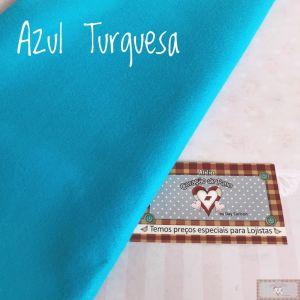 FELTRO SANTA FÉ - AZUL TURQUESA (COR 28) - 50 X 140 CM
