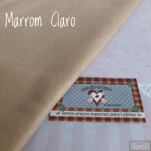 FELTRO SANTA FÉ - MARROM CLARO (50 X 140 CM)