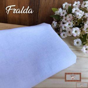 TECIDO PARA FRALDA DUPLO - LISA / BRANCA (70 X 70 CM)