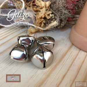 GUIZO PRATA GG (25MM) - 4UN