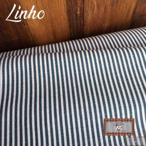 LINHO ESTAMPADO II - AZUL LISTRAS (0,50 MT)