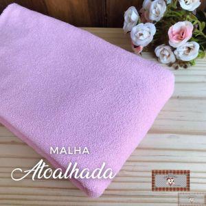 MALHA ATOALHADA BABY - ROSA (1 X 1 MT)