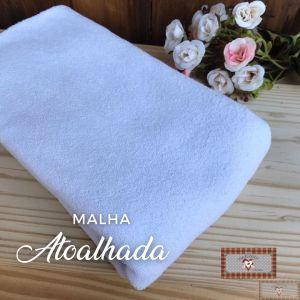 MALHA ATOALHADA BABY - BRANCA (1 X 1 MT)