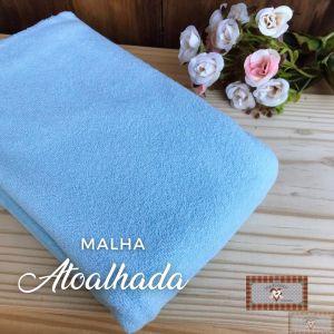 MALHA ATOALHADA BABY - AZUL (1 X 1 MT)