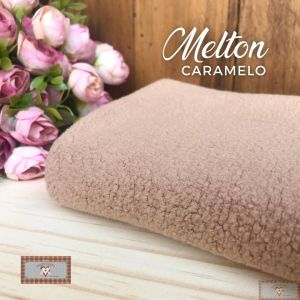 MELTON / UNIFLOCK -  CARAMELO (50 X 80 CM)
