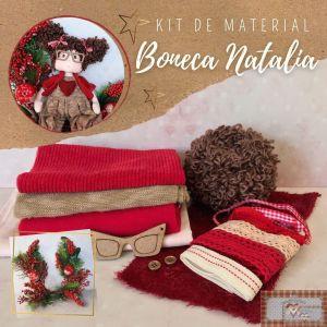 BONECA NATÁLIA- KIT DE MATERIAL (SEM PROJETO)