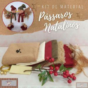 PÁSSAROS NATALINOS - KIT DE MATERIAL (SEM PROJETO)