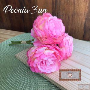VTR - BUQUÊ DE FLORES PERMANENTE - PEÔNIA 3UN PINK