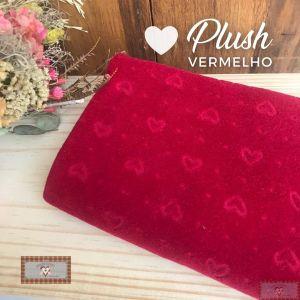 PLUSH ESTAMPADO CORAÇÃO - VERMELHO (50X80CM)