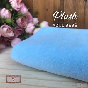 PLUSH LISO - AZUL BEBÊ (50X80CM)
