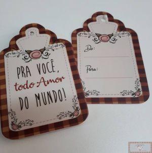 TAG DE PRESENTE - PRA VOCÊ TODO AMOR DO MUNDO - 12UN