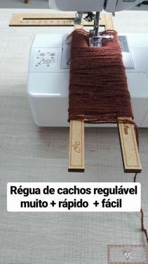 RÉGUA PARA CABELO CACHEADO M - (15CM X 30CM)