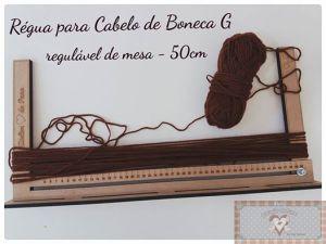 RÉGUA PARA CABELO DE BONECA G (50 CM)