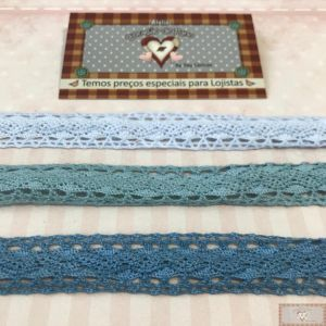KIT DE RENDA 3 CORES - TONS DE AZUL (2CM X 1MT)
