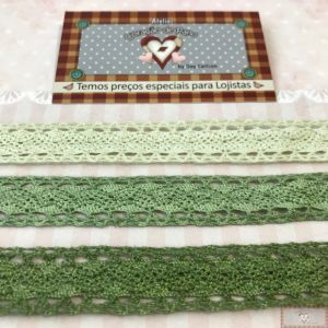 KIT DE RENDA 3 CORES - TONS DE VERDE (2CM X 1MT)