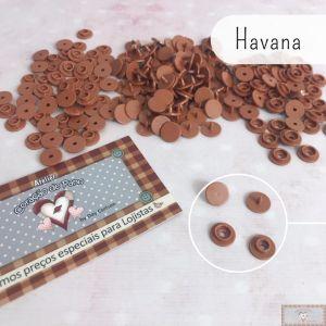 HAVANA - BOTÃO DE PRESSÃO PLÁSTICO RITAS REDONDO - 50PC (10MM)
