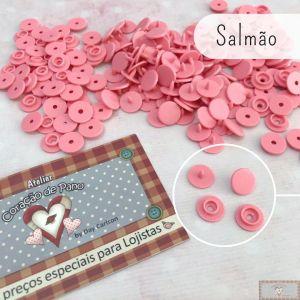 SALMÃO - BOTÃO DE PRESSÃO PLÁSTICO RITAS REDONDO - 50PC (10MM)