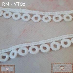 RN - VT08 - RENDA MINI BOLINHAS (L: 1CM) - 1MT