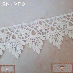 RN - VT10 - RENDA GUIPIR BRANCA (L: 5CM) - 1MT