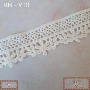 RN - VT11 - RENDA MINI GUIPIR FLORAL CRU (L: 2,5CM) - 1MT