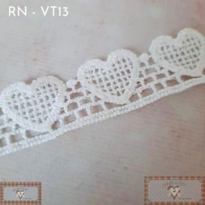 RN - VT13 - RENDA GUIPIR CORAÇÃO (L: 2CM) - 1MT