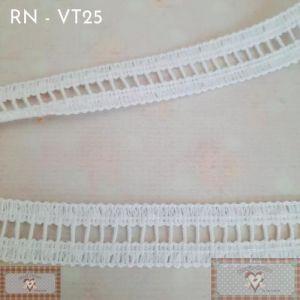 RN - VT25 - RENDA FINA BRANCA (L: 1,5CM) - 1MT