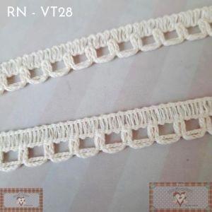 RN - VT28 - RENDA FINA DETALHE CRU (L: 1CM) - 1MT