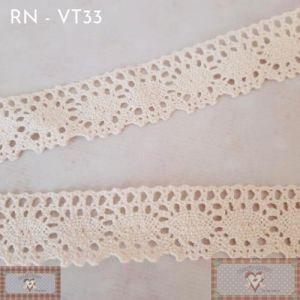 RN - VT33 - RENDA ALGODÃO CRU (L:2,5CM) - 1MT