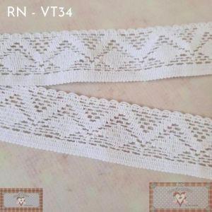 RN - VT34 - RENDA GEOMÉTRICA BRANCA (L:2,5CM) - 1MT