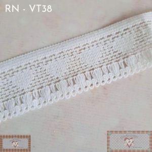 RN - VT38 - RENDA DETALHES CORAÇÕES BRANCA (L:3CM) - 1MT