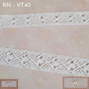 RN - VT40 - RENDA FINA BRANCA (L:1,5CM) - 1MT