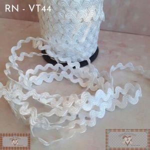 RN - VT44 - SIANINHA CLÁSSICA BRANCA  (L:1CM) - 1MT