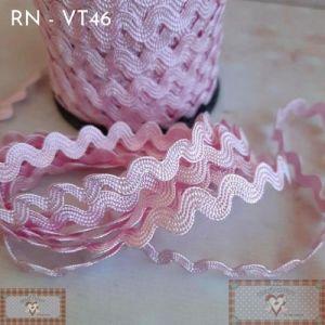 RN - VT46 - SIANINHA CLÁSSICA ROSA CLARO  (L:1CM) - 1MT